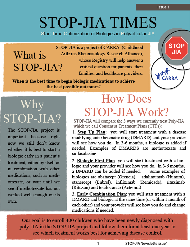 STOP-JIA Times Newsletter Issue 1